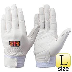 トンボレックス 牛革手袋 CS−701W 中厚・ロールガード ホワイト L