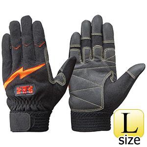 トンボレックス 人工皮革手袋 E−127R 中厚・ガンカット仕様 ブラック L