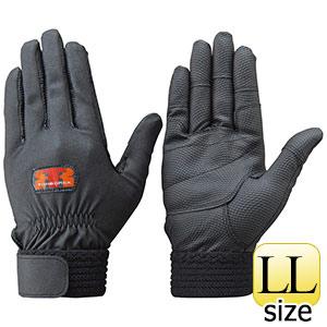 トンボレックス 合成皮革手袋 E−831BK ブラック LL