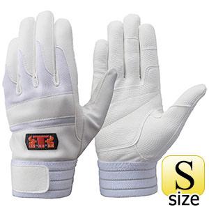トンボレックス 合成皮革×甲ニット手袋 E−843W ホワイト×ホワイト S