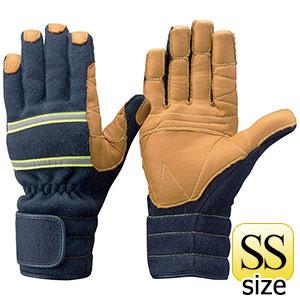 トンボレックス ケブラー(R)繊維製防火手袋 K−TFG7NV ネイビー SS