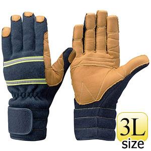 トンボレックス ケブラー(R)繊維製防火手袋 K−TFG7NV ネイビー 3L