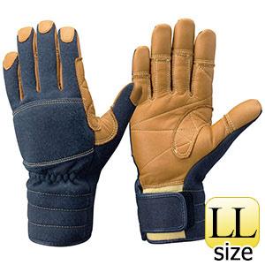 トンボレックス ケブラー(R)繊維製 防火手袋 K−TFG5NV ネイビー LL