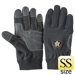 トンボレックス ケブラー(R)繊維製消防団員用耐切創手袋 K−522BKD SS