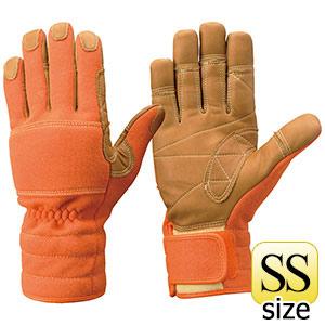 トンボレックス ケブラー(R)繊維製 防火手袋 K−TFG5R オレンジ SS