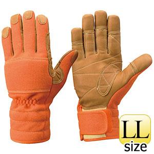 トンボレックス ケブラー(R)繊維製 防火手袋 K−TFG5R オレンジ LL