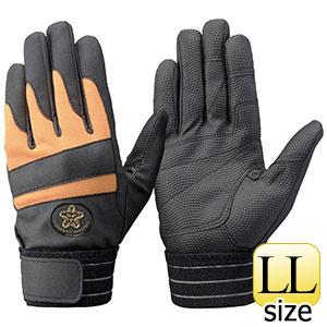 トンボレックス 消防団マーク手袋 合成皮革 E−843RD LL