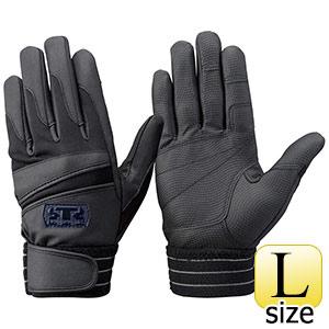 トンボレックス 簡易防寒手袋 合成皮革 EF−844BK L