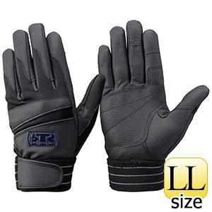 トンボレックス 簡易防寒手袋 合成皮革 EF−844BK LL