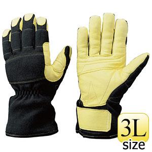 トンボレックス ケブラー(R)繊維製 防火・防水手袋 K−A172BK 3L