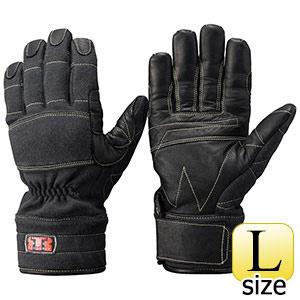 トンボレックス ケブラー(R)防火・防水ハイスペック手袋 K−A173BK L