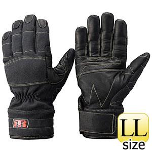 トンボレックス ケブラー(R)防火・防水ハイスペック手袋 K−A173BK LL