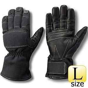 トンボレックス ケブラー(R)防火・防水ハイスペック手袋 K−A174BK L