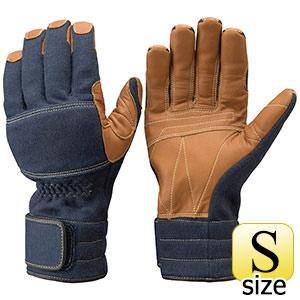 トンボレックス ケブラー(R)繊維製手袋 K−A181NV ネービー×茶色 S