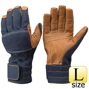 トンボレックス ケブラー(R)繊維製手袋 K−A181NV ネービー×茶色 L