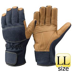 トンボレックス ケブラー(R)繊維製手袋 K−A182NV ネービー×茶色 LL