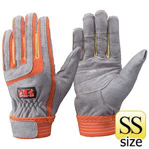 トンボレックス ケブラー(R)繊維製耐切創手袋 K−5017R オレンジ SS