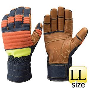 トンボレックス ケブラー(R)繊維製防水手袋 K−A183NV 紺×橙 LL
