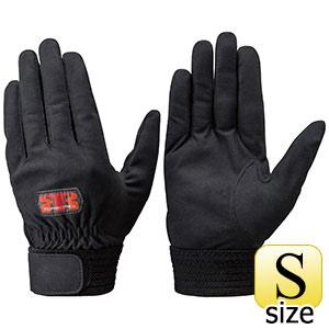 トンボレックス 人工皮革製手袋 E−REX21BK 黒 手の平当て無タイプ S