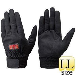 トンボレックス 人工皮革製手袋 E−REX21BK 黒 手の平当て無タイプ LL