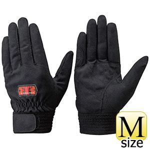 トンボレックス 人工皮革製手袋 E−REX22BK 手の平補強当て付タイプ M