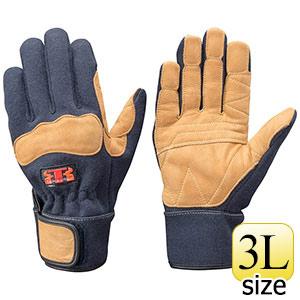 トンボレックス ケブラー(R)繊維製防火手袋 K−G102NV ネービー 3L