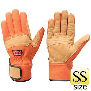 トンボレックス ケブラー(R)繊維製防火手袋 K−G102R オレンジ SS
