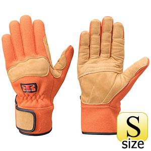 トンボレックス ケブラー(R)繊維製防火手袋 K−G102R オレンジ S