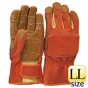 トンボレックス ケブラー(R)繊維製手袋 K−TF2R オレンジ LL