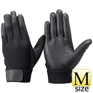 トンボレックス 羊革手袋 RS−601BK 薄手・甲ニット仕様 ブラック M