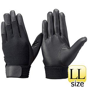 トンボレックス 羊革手袋 RS−601BK 薄手・甲ニット仕様 ブラック LL