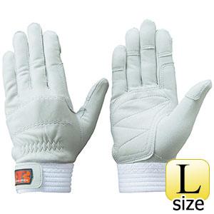 トンボレックス 羊革手袋 R−320W 中厚タイプ シルバーホワイト L