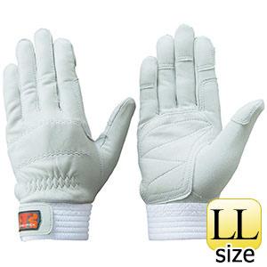 トンボレックス 羊革手袋 R−320W 中厚タイプ シルバーホワイト LL