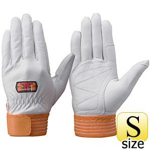 トンボレックス 羊革手袋 R−330R 中厚タイプ オレンジ S