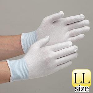 低発塵 耐切創性手袋 カットレジストインナーLL NO.145 ノンコート10双