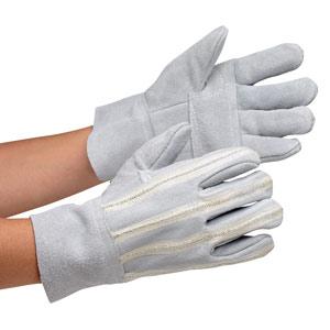 耐切創性手袋 両面鎖入床革手袋