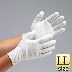 耐切創性手袋 カットガードW102 ホワイト LLサイズ