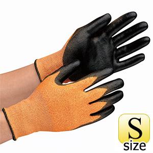 タッチパネル対応 耐切創性手袋 カットガードC130 Sサイズ