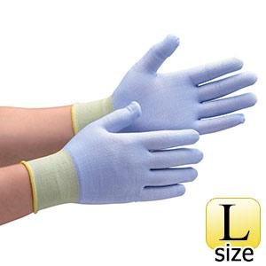 耐切創性手袋 カットガード182 ブルー 最薄手タイプ L 10双