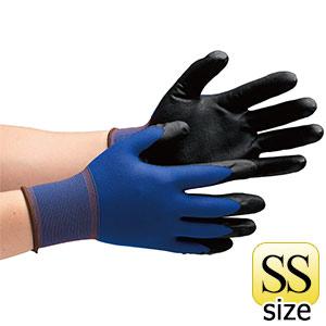 作業手袋 ハイグリップ ニトリル背抜き手袋 MHG−150 SS 10双/袋