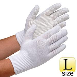すべり止め加工手袋 ゴムソフト NO.550 L 10双