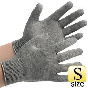 接触感染予防手袋 MS132 グレー S