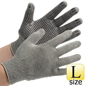 接触感染予防手袋 MS135 グレー ボツ付タイプ L