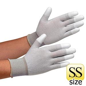 静電気拡散性手袋 MCG−801N (指先コーティング) SS 10双/袋