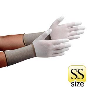 作業手袋 MCG−501Nロング (指先コーティング) SS 10双/袋