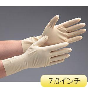天然ゴム手袋 アキュテック 91−225 7.0インチ 50双/箱
