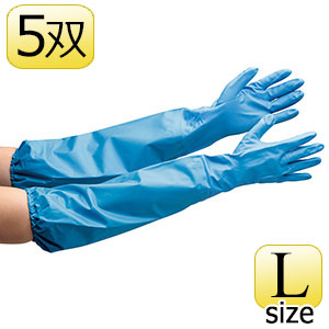 エステー NO.370 L 青X青 腕カバー付 5双/袋