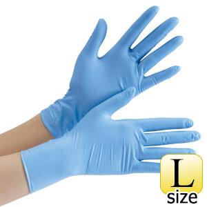 ニトリル手袋 ベルテ 750K (レギュラー) 粉なし ブルー L 100枚