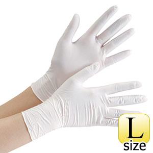 ニトリル手袋 ベルテ 753K (レギュラー) 粉付き ホワイト L 100枚入