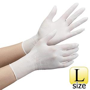 ニトリル手袋 ベルテ 711N (薄手) 粉なし ホワイト L 100枚